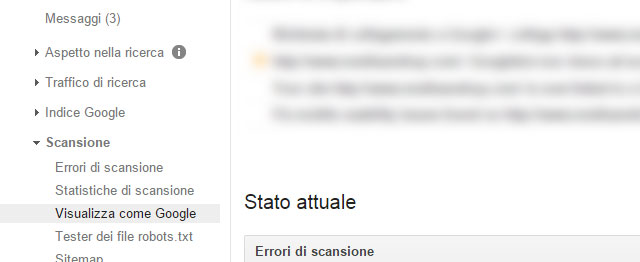 Come procedere su google search console