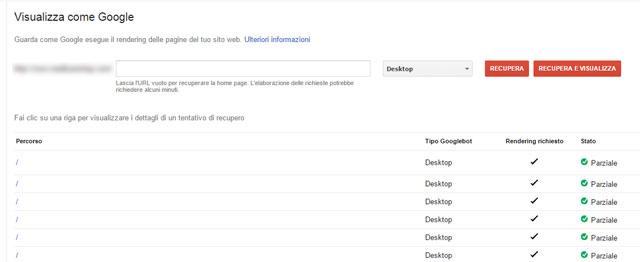 Come utilizzare lo strumento visualizza come google