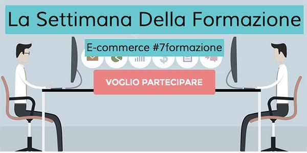 Dal 23 al 27 marzo la settimana della formazione E-commerce